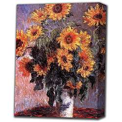 Sunflower in White Vase Giclee Print Canvas Art