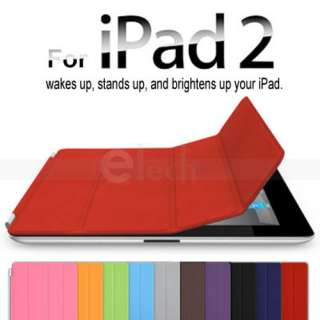Red Smart Cover Slim Magnetic PU Leather Case Wake/ Sleep Stand for