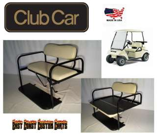 Club Car DS Golf Cart Rear Flip Down Seat Kit BUFF (FAST