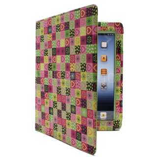 Stylish Smart Cover PU Leather Case With Stand Green SH62