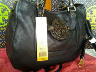 NEW Auth TORY BURCH Leather Amanda Hobo Bag/Purse Black Gift Wrap Only