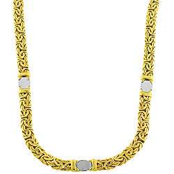 14k Two tone Gold Byzantine Chain Necklace
