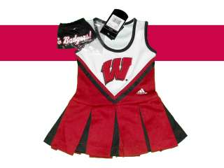 BADGERS YOUTH GIRLS CHEERLEADER OUTFIT DRESS COSTUME SET SMALL 4
