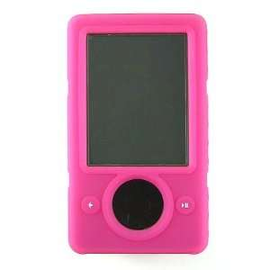 Hot Pink Silicone Skin Rubber Cover Case Stand Belt CLIP