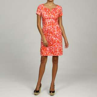 Jessica Howard Womens Petite Coral Printed Dress  Overstock