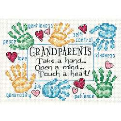 Grandparents Touch A Heart Cross Stitch Kit  Overstock