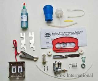 Cox 049 Control Line Model Airplane C/L Starter Kit .049 Engine