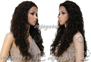 Deep Wave #1B/30 Hi Temp Synthetic Lace Front Wigs w/ weft back Free