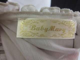 NWT BABY MARY Ivory Beaded Sheer Halter Blouse Sz S