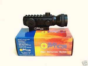 Sun Optics USA Tactical Tri Rail Point Sight W/2X Boost