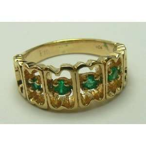 Perfect Natural Colombian Emerald & Gold Ring 20pts