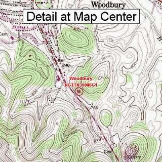 USGS Topographic Quadrangle Map   Woodbury, Tennessee (Folded