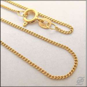 o913   BRAND NEW 18 K SOLID YELLOW GOLD CHAIN NECKLACE