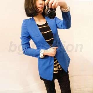 Womens Ladies Slim One Button Suit Stylish Casual Jacket Blazer