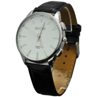 2012 Newest Men Boys Big Dial Leatheroid Quartz Movement Wrist Watch