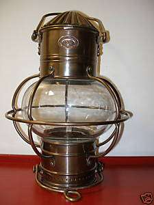 Decorative Maritime Solid Brass Globe Lantern Oil Lamp