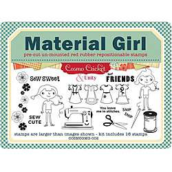 Unity Stamp Material Girl Unmounted Red Rubber Stamps (Pack of 16