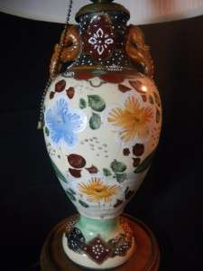 Lovely Vintage Japan Japanese Moriage Satsuma Vase Lamp