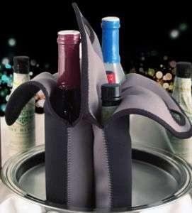 Tote Black Neoprene 6 Pack, Bottle tote