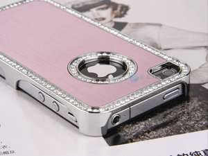 Luxury Bling Diamond Aluminium Hard Case Cover F Verizon iPhone 4S 4G