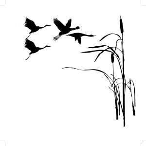 Removable Wall Decals  Ducks Flying