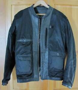 DAVIDSON Mens XL Black Cowhide Leather Motorcycle Biker Jacket A