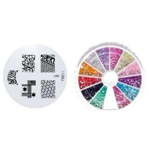 MoYou Nail Art Image Plate A90+ Rhinestone Pack 1200 premium quality