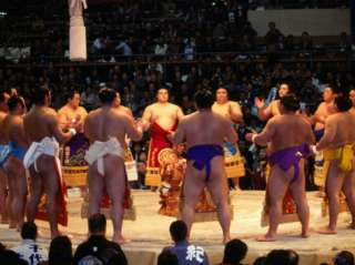 Traditional Ceremony Before Sumo Wrestling, Osaka, Japan Photographic