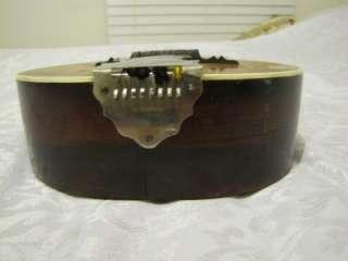 RARE EARLY 1900S WASHBURN LYON & HEALY GUITAR SHAPED MANDOLIN SUPER