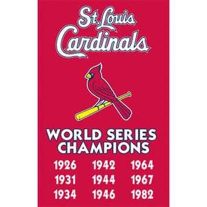 MLB   St. Louis Cardinals Championship Applique Banner