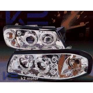 Chevy Impala Headlights Chrome LED Halo Pro Headlights 2000 2001 2002