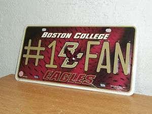 Boston College Eagles License Plate  #1 Fan  New