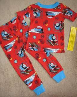 THOMAS Tank ENGINE *Full Steam* Red Long Pajamas sz 4T |