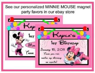 60 MINNIE MOUSE BIRTHDAY PARTY FAVORS CANDY WRAPPERS
