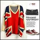 NWT SP63 Ladies Classic Bat Sleeves British Flag Sweaters Jumpers