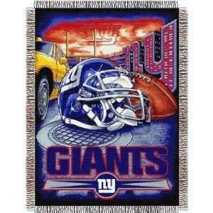 New York Giants Catch NFL Woven Tapestry Throw Blanket