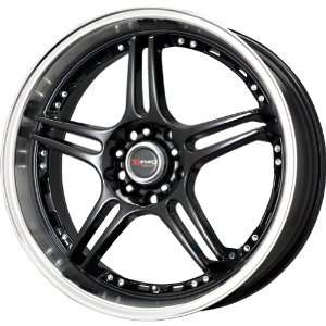 Drag D40 Gloss Black Wheel with Machined Lip (17x7.5