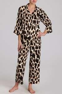 NWT Natori Xiao Animal Print Sexy Boyfriend Pajama Set $160