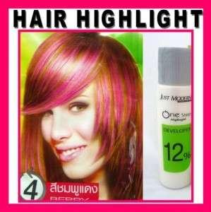 Hair COLOR HIGHLIGHT Cream Dye   One Step   BERRY PINK