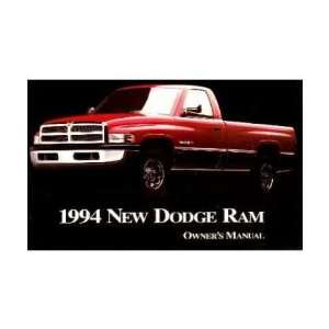 1994 DODGE RAM TRUCK Owners Manual User Guide Automotive