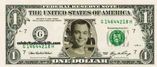 BANG THEORY SHELDON COOPER CELEBRITY DOLLAR BILL MINT US CURRENCY CASH