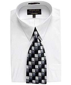 Alexander Julian Mens Dress Shirt and Tie Set