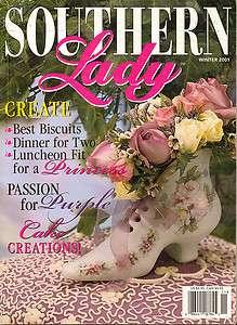 2001 Vintage Southern Lady Magazine Weddings Victorian Recipes PURPLE