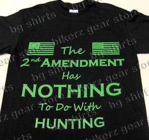 The 2nd AMENDMENT Short Sleeve T shirt Biker Tea Party   2X 3X Pro Gun