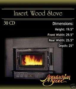 Appalachian 30 CD INSERT Wood Stove Fireplace TRIM KIT
