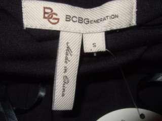 BCBG GENERATION black knit w wooden beads BLOUSON coverup / dress $120