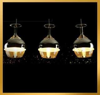 Wine Glass Bowl Hanging Suspension Pendant Lamp Ceiling Light