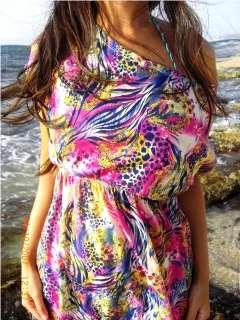 New Sexy Short Sleeve Cocktail Beachwear Sz Dress S/M/L