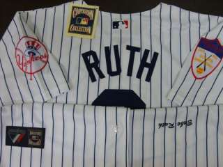 New York Yankees #3 Babe Ruth Cooperstown Throwback Home Jersey