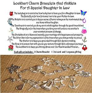 Daughter In Law Charm Anklet poem organza gift 2x4 car